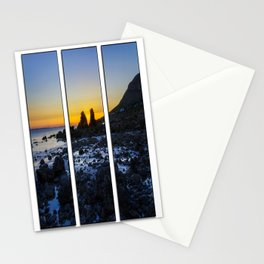 Sunset Through The Rocks Tryptych Stationery Cards
