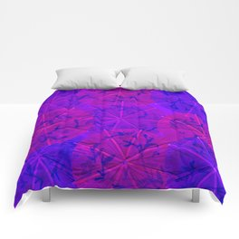 Purple Umbrellas Comforters