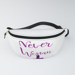 Never Underestimate A Woman With a Motorcycle Gift Premium design Fanny Pack