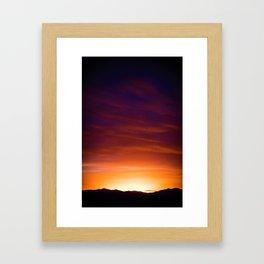 Gorgeous Sunset (Color) Framed Art Print