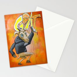 Mike's Street Artist Goat Stationery Cards