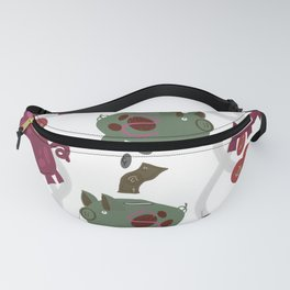 Silly Piggie, dollars make cents - Magenta Fanny Pack