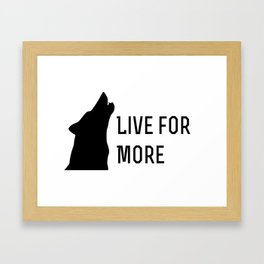 Live for More - Red Rising Framed Art Print