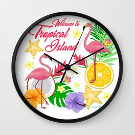 Wecome to topical Island Wall Clock