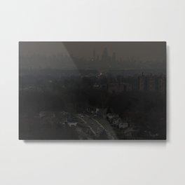 Grey New York Metal Print