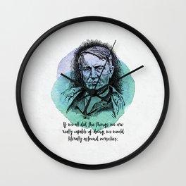Thomas Edison - Science Portrait - Astound Ourselves Wall Clock