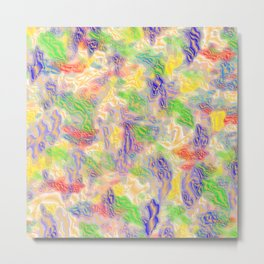 many colorful strokes painted Metal Print