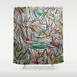 Impromptu Shower Curtain