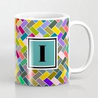 monogram Mugs featuring I Monogram by mailboxdisco