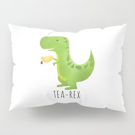 Tea-Rex Pillow Sham