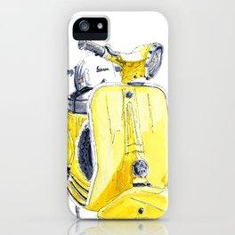 Yellow Vespa 50s iPhone Case