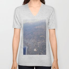 London From The Air Unisex V-Neck