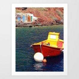 Floating Santorini Art Print