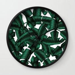 Banana leaves pattern. Wall Clock