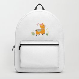 Redhead Llama Red Hair Redheads Ginger Gift Backpack
