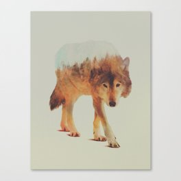 Wolf In The Woods #2 Canvas Print