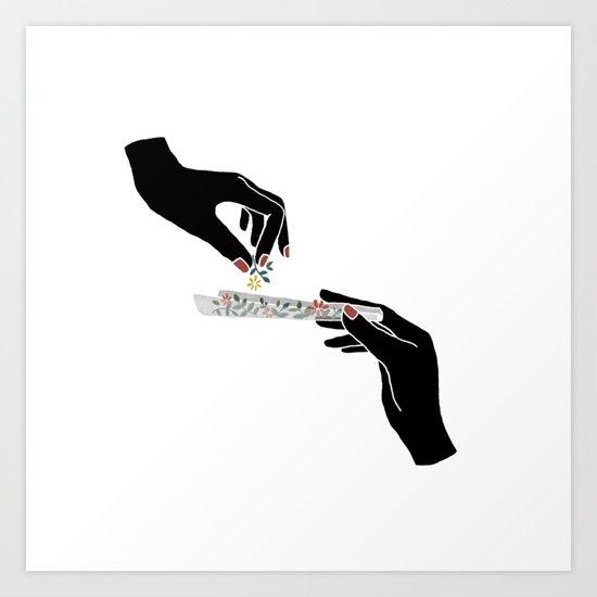 Flower roll / Illustration by bifng