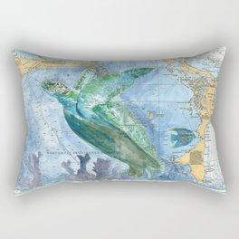 Turtle 4A (Bahamas) Rectangular Pillow