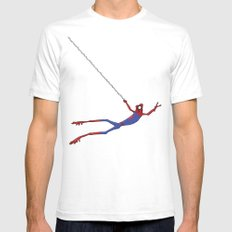 Spiderfrog SMALL White Mens Fitted Tee