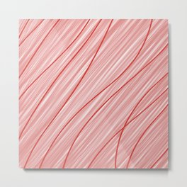 Peppermint Stripes Red and White - Digital Painting Metal Print