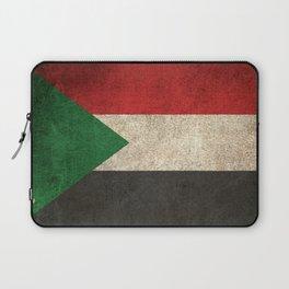 Old and Worn Distressed Vintage Flag of Sudan Laptop Sleeve