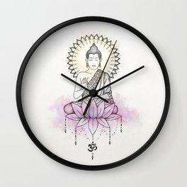 Lotus Buddha Wall Clock