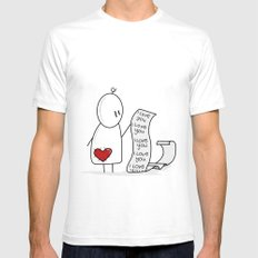I Love You... A Lot. SMALL White Mens Fitted Tee