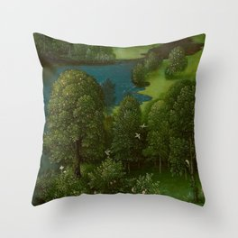 Joachim Patinir - Crossing the River Styx Medieval Fantasy Fairy Tale Landscape Throw Pillow