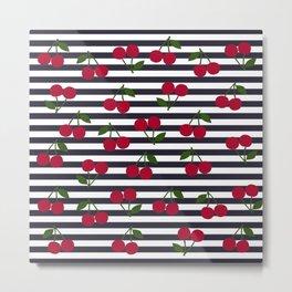 Cherry stripe pattern Metal Print