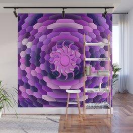Purple Sun Wall Mural