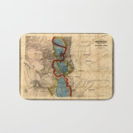 Map Of Colorado 1865 Bath Mat