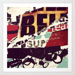 Be Sup Lights Art Print