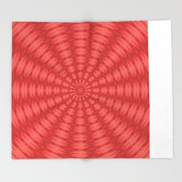 Succulent Red and Yellow Flower Abstract  Throw Blanket
