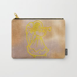 Golden Angel with trumpet Carry-All Pouch