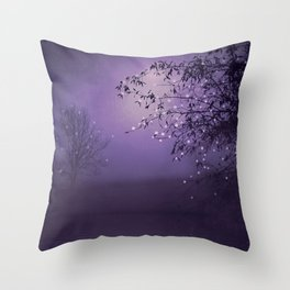 SONG OF THE NIGHTBIRD - LAVENDER Throw Pillow