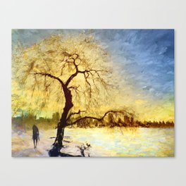 Walk Under the Willow Canvas Print