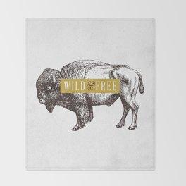 Wild & Free (Bison) Throw Blanket