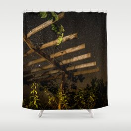 The Night Sky in Costa Rica Shower Curtain