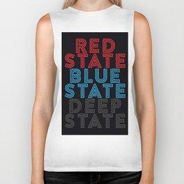 Red State Blue State Deep State Biker Tank