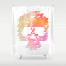 Skull Pink Shower Curtain