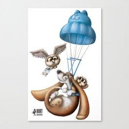 Flying basset Canvas Print