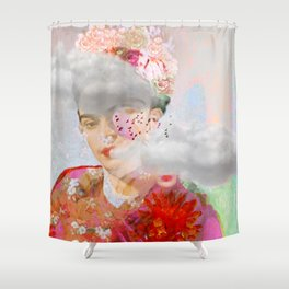 The essence of Frida Shower Curtain