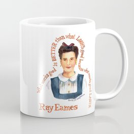 Ray Eames by dotsofpaint studios Coffee Mug