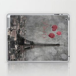 I love Paris {bw red balloons Laptop & iPad Skin