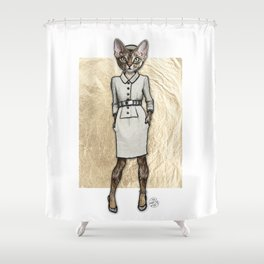 La Coquine, Couture Kitty Shower Curtain