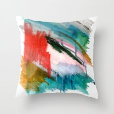 Happiness - a bright abstract piece Throw Pillow