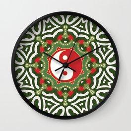 Holiday Festive Balance Yin Yang Wall Clock