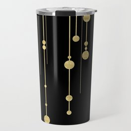 Black and Gold Travel Mug