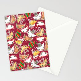 """""""Oro?"""" Christmas WINE RED Stationery Cards"""