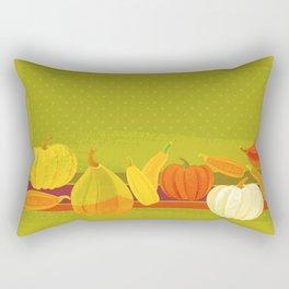 Autumn Pumpkins Rectangular Pillow